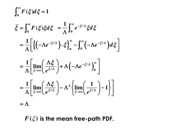 is the mean free-path PDF.