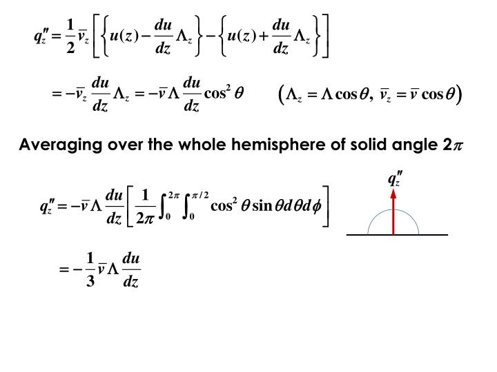 Averaging over the whole hemisphere of solid angle 2