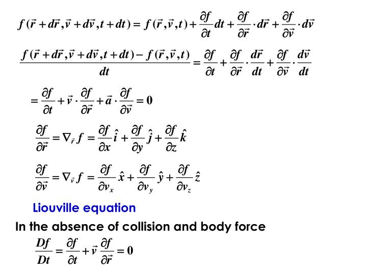 Liouville equation