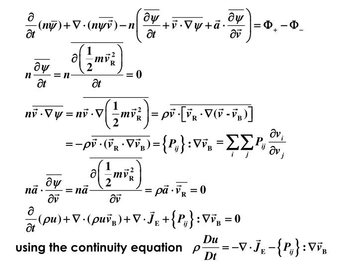 using the continuity equation