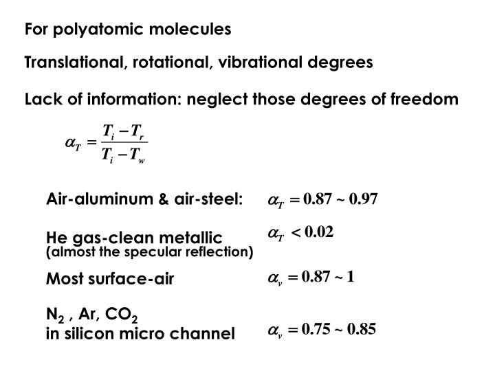 For polyatomic molecules