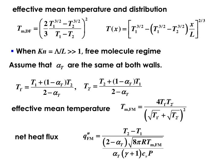 effective mean temperature and distribution