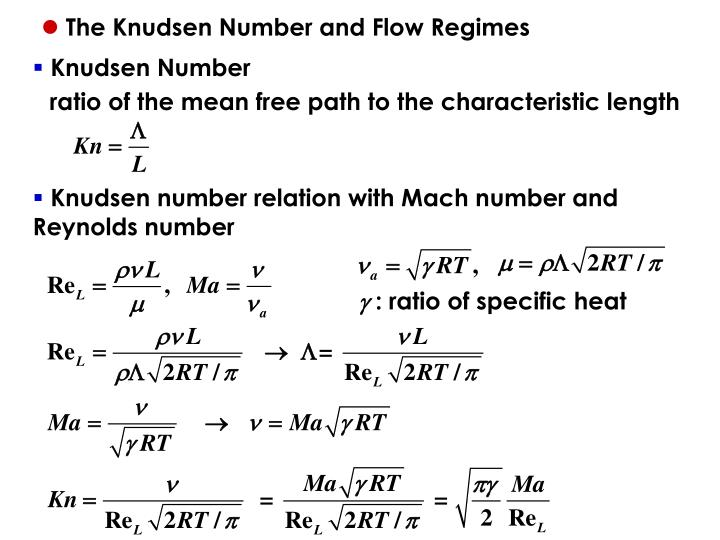 The Knudsen Number and Flow Regimes