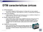 dtm caracter sticas nicas