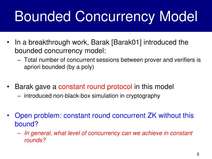 Bounded Concurrency Model