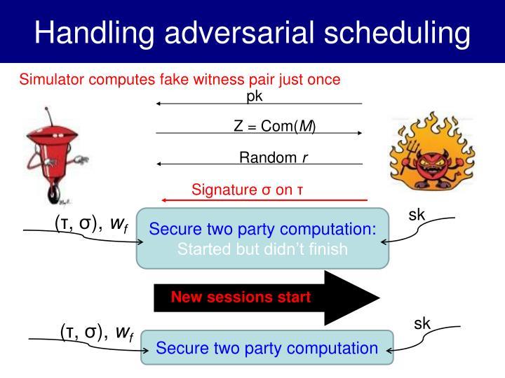 Handling adversarial scheduling