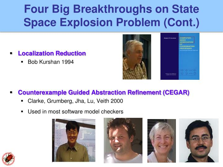 Four Big Breakthroughs on State Space Explosion Problem (Cont.)