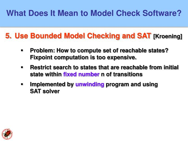 What Does It Mean to Model Check Software?
