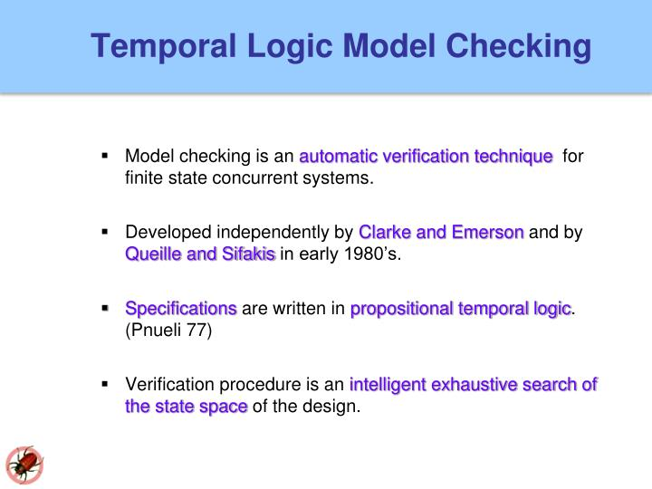 Temporal logic model checking