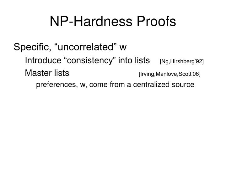 NP-Hardness Proofs