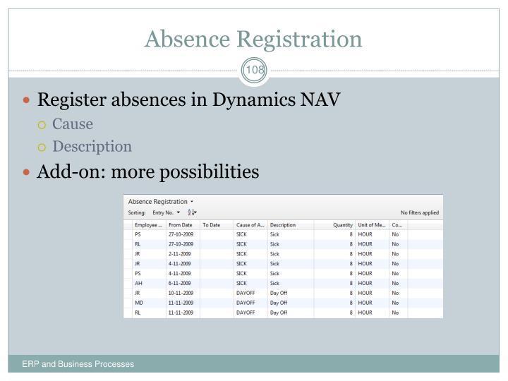 Absence Registration