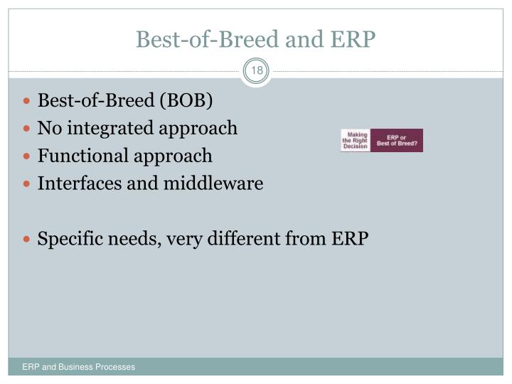 Best-of-Breed and ERP