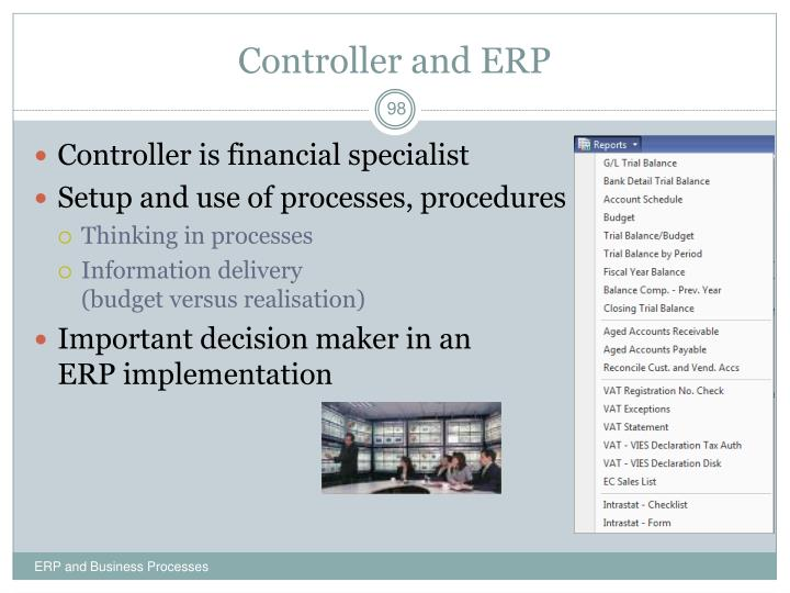 Controller and ERP