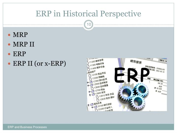 ERP in Historical Perspective