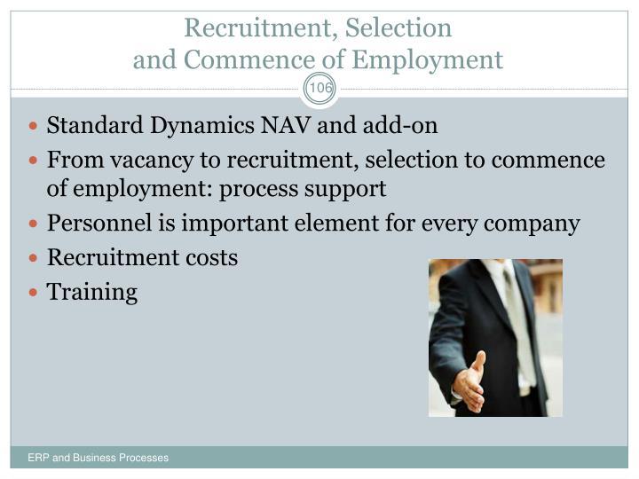 Recruitment, Selection