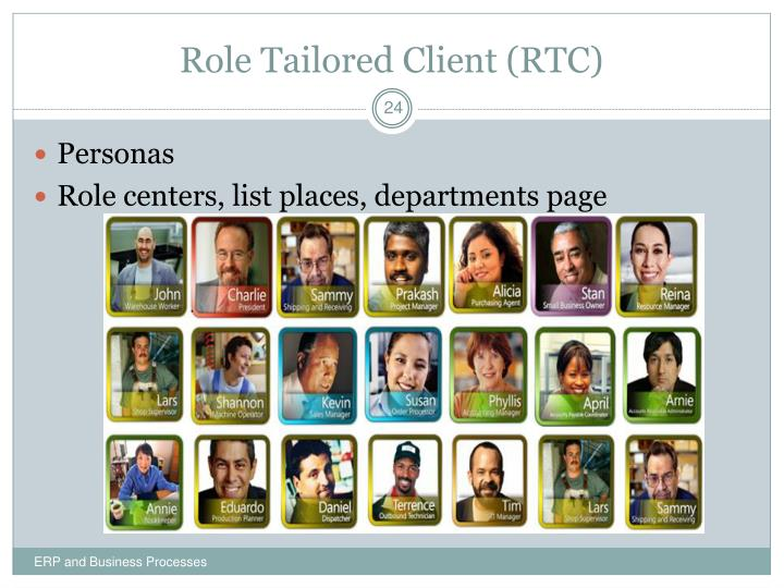 Role Tailored Client (RTC)