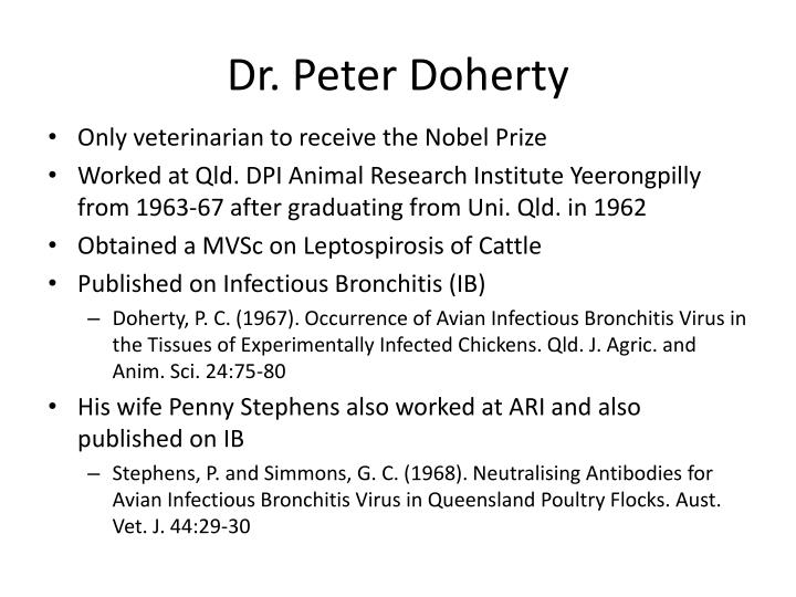 Dr. Peter Doherty