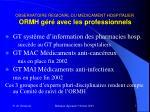 observatoire regional du medicament hospitalier ormh g r avec les professionnels2