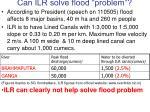 can ilr solve flood problem