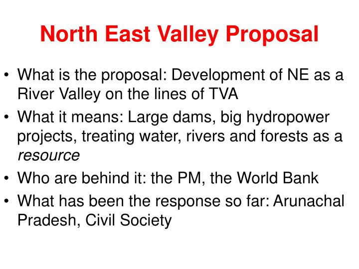 North East Valley Proposal