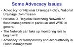 some advocacy issues