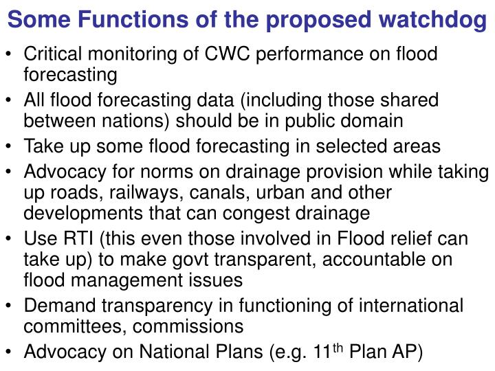 Some Functions of the proposed watchdog