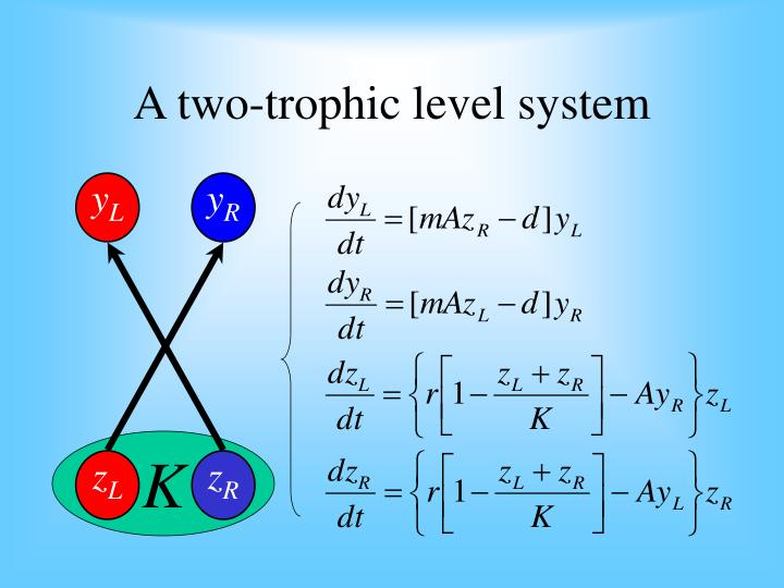 A two-trophic level system