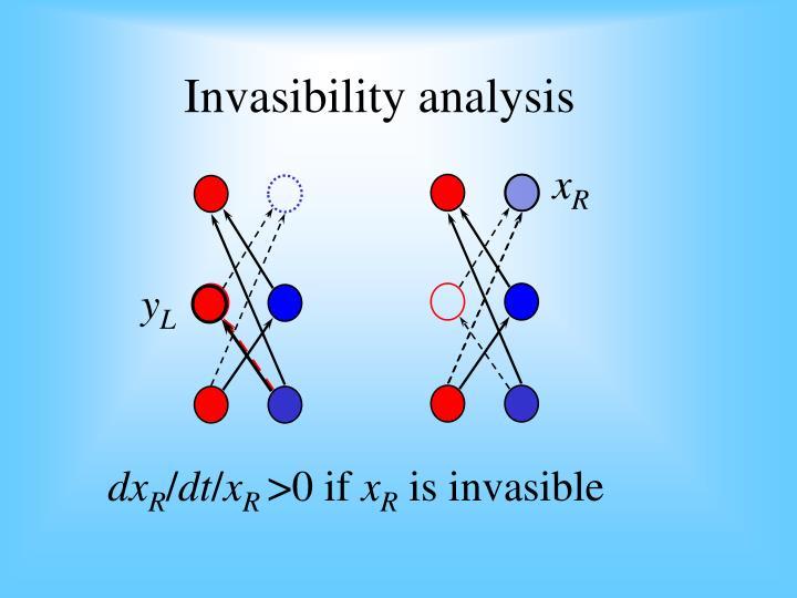 Invasibility analysis