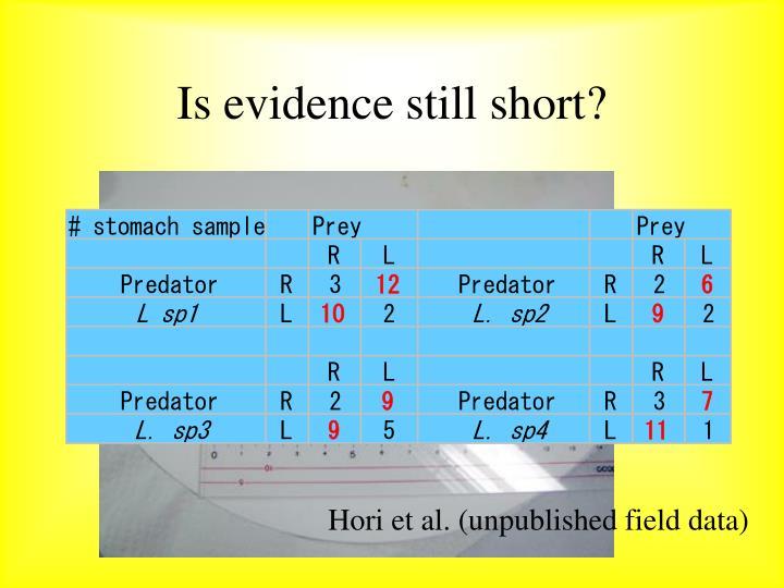 Is evidence still short?