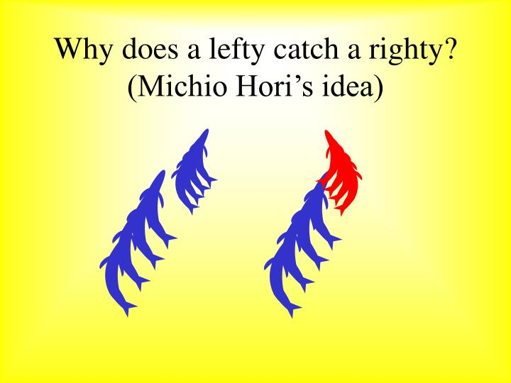 Why does a lefty catch a righty?