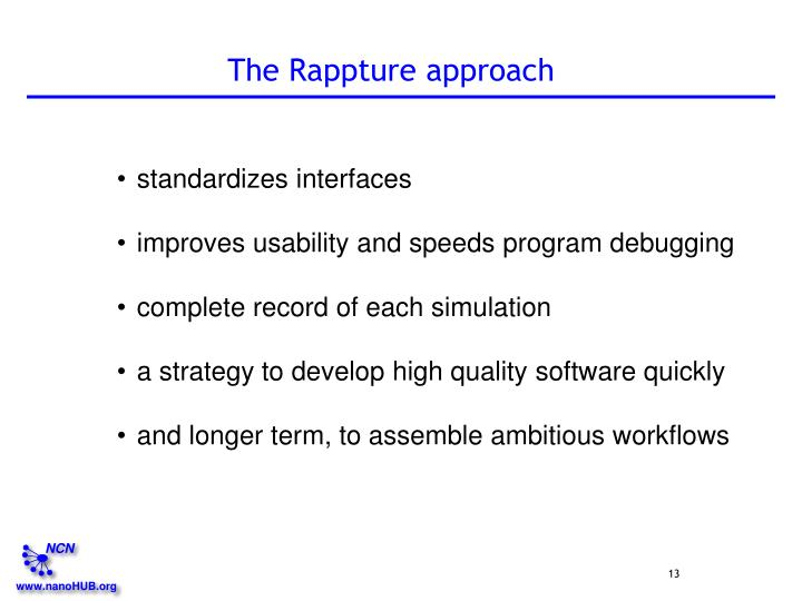 The Rappture approach