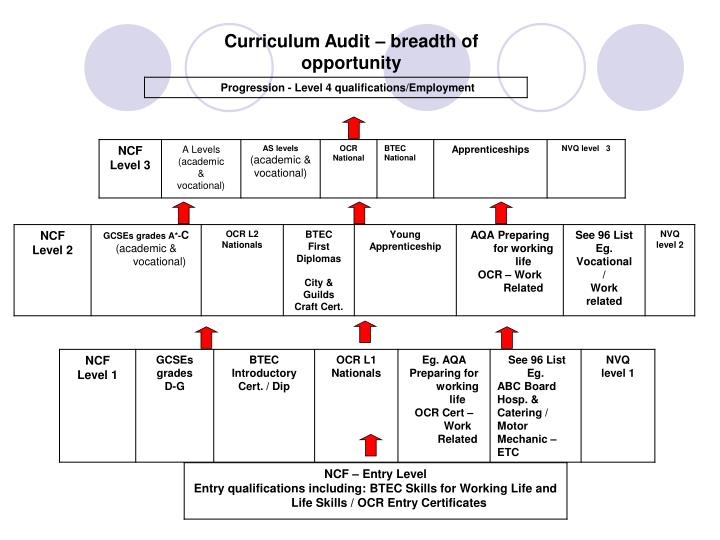 Curriculum Audit – breadth of opportunity