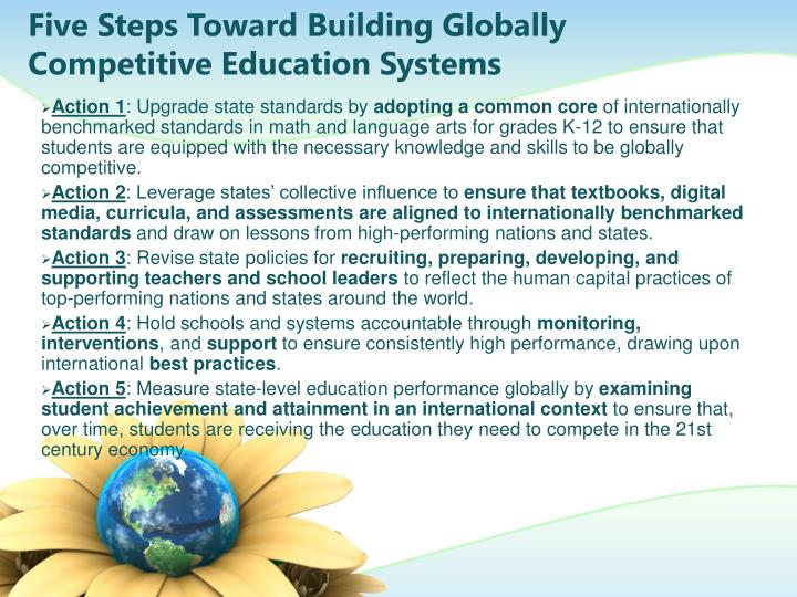 Five Steps Toward Building Globally Competitive Education Systems