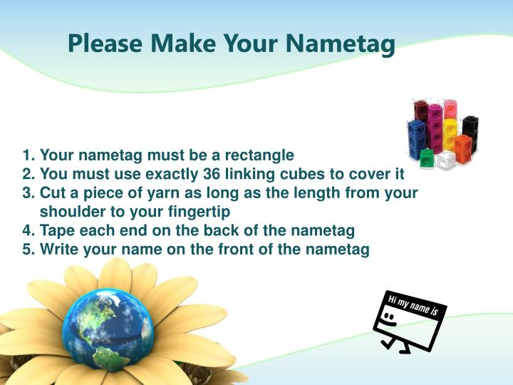 Please Make Your Nametag