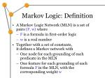 markov logic definition