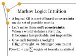 markov logic intuition