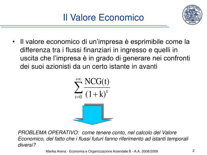Il Valore Economico