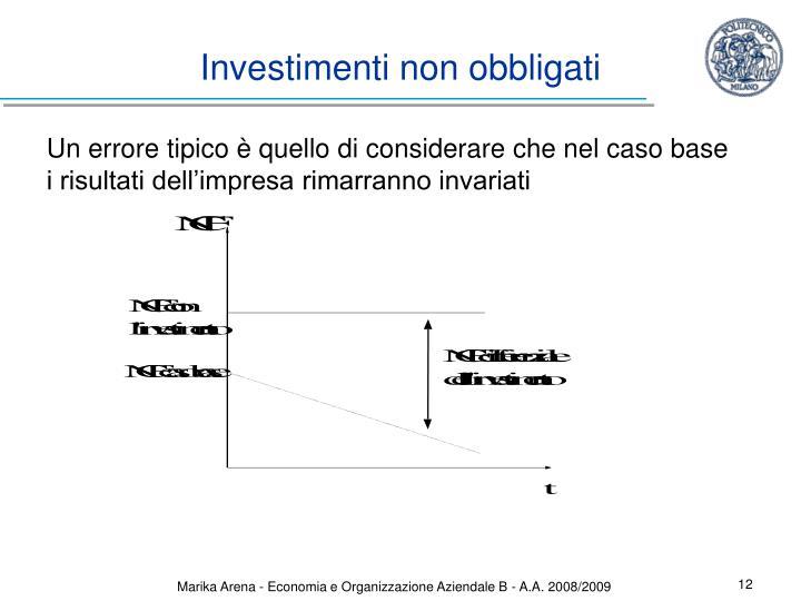 Investimenti non obbligati