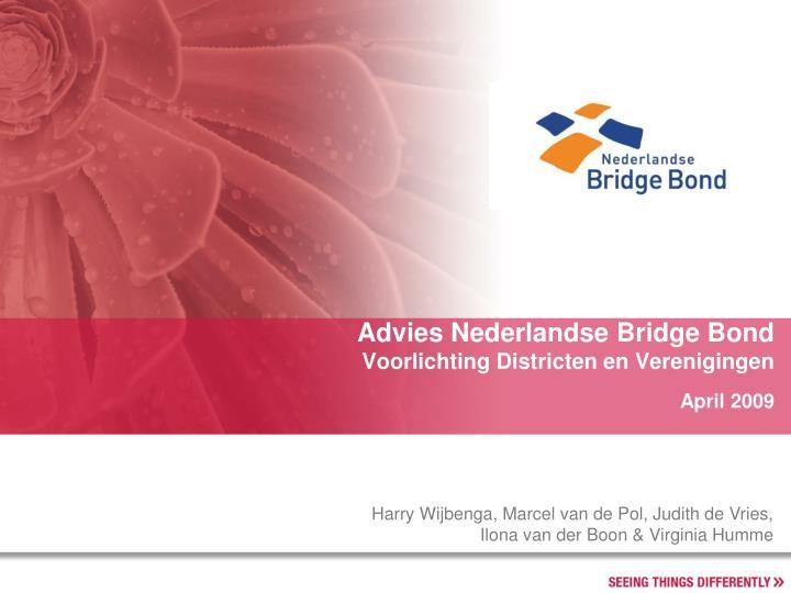 Advies Nederlandse Bridge Bond