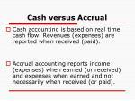 cash versus accrual