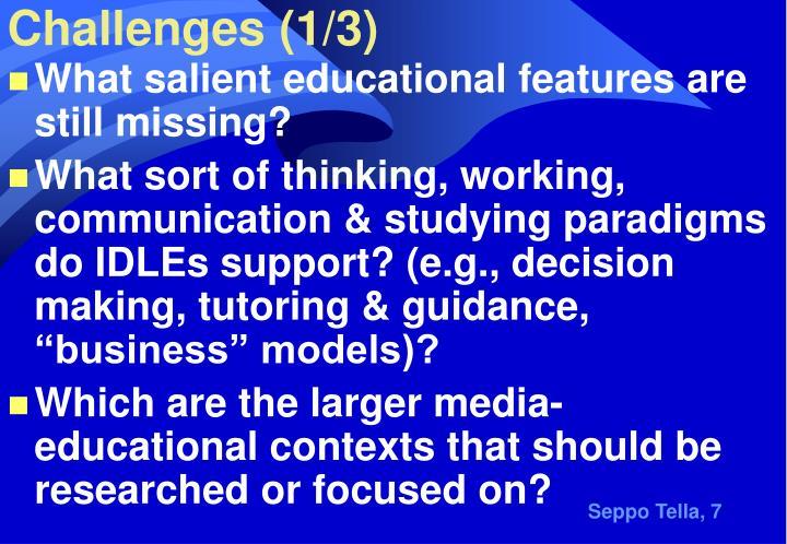 Challenges (1/3)