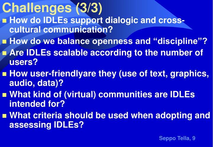 Challenges (3/3)