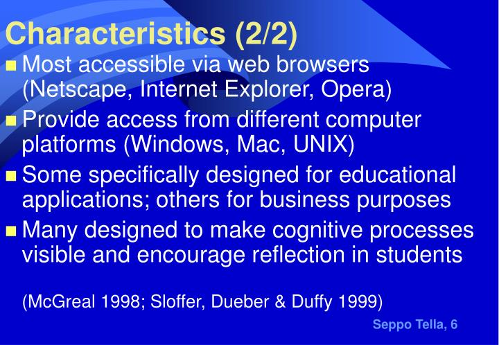 Characteristics (2/2)