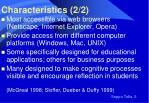 characteristics 2 2
