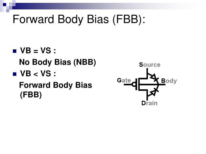 Forward Body Bias (FBB):