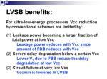 lvsb benefits