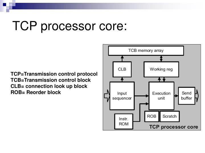 TCP processor core: