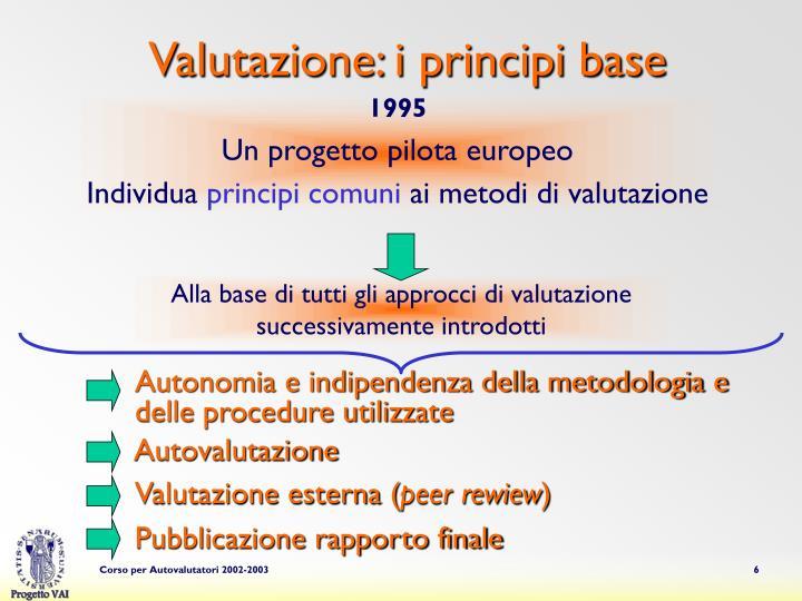 Valutazione: i principi base