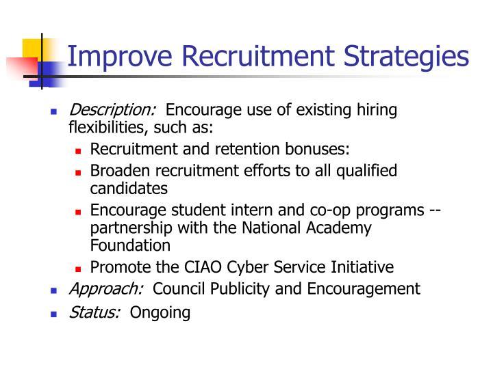 Improve Recruitment Strategies