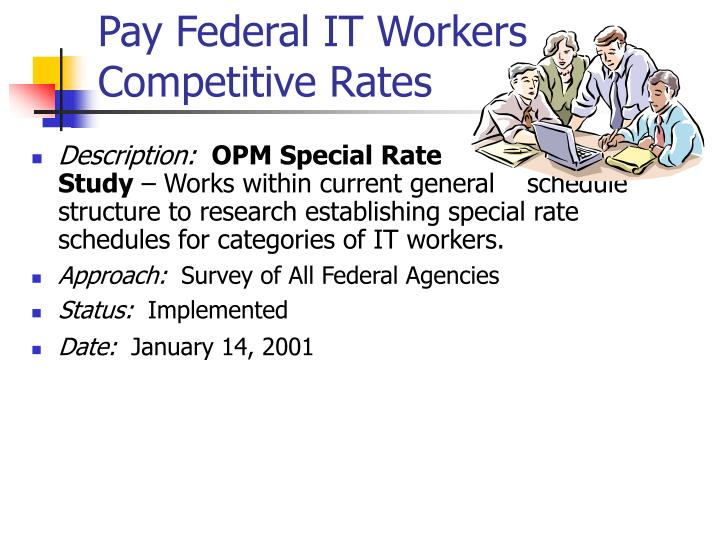 Pay Federal IT Workers Competitive Rates